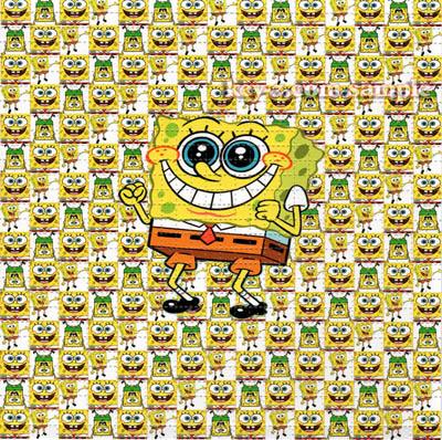 spongebob blotter art